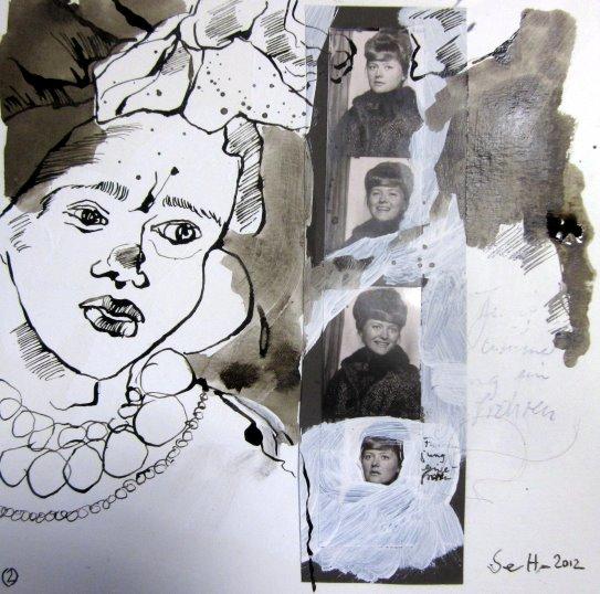 Blatt 2 Für immer jung - 25 x 25 cm (c) Collage von Susanne Haun