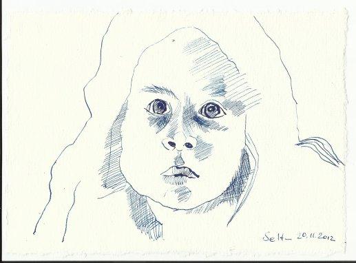 Blatt 55 Das schwarze Kind (c) Zeichnung von Susanne Haun
