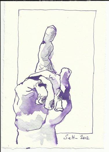 Blatt 59 Auf meine Anordnung hin (c) Zeichnung von Susanne Haun