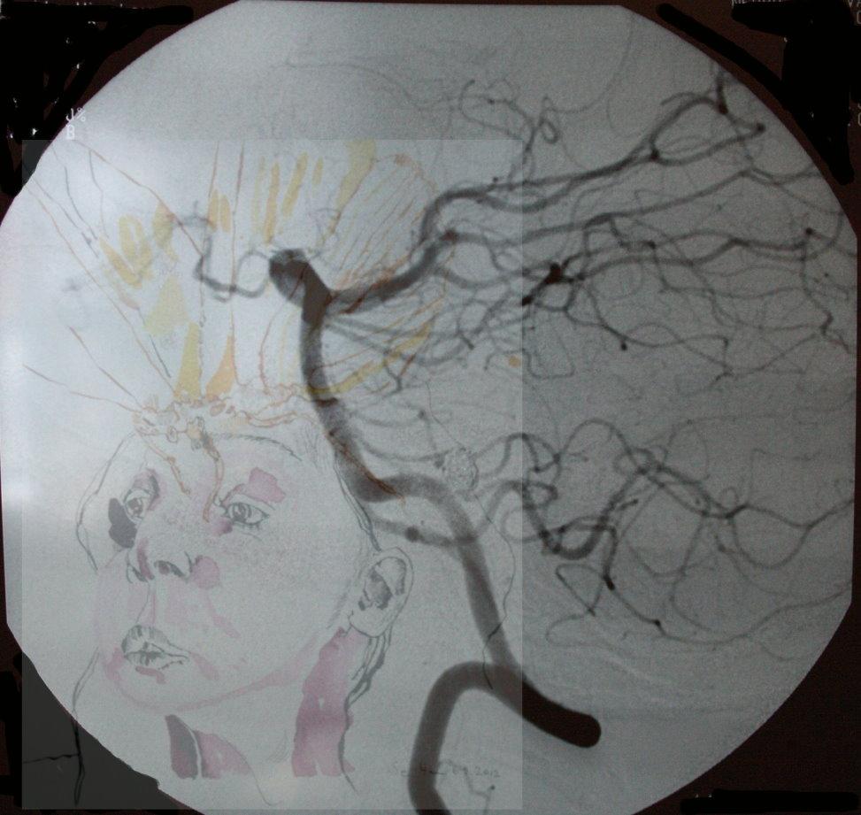Ich und meine Seele (c) Fotoüberlagerund und Zeichnung von Susanne Haun