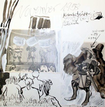 Blatt 13 Theater 25 x 25 cm (c) Collage von Susanne Haun