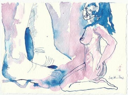 Blatt 61 ... einer übermenschlicihen Lust (c) Zeichnung von Susanne Haun