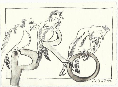 Blatt 63 Schwarzgeschriebene Seiten Vers. 1 (c) Zeichnung von Susanne Haun