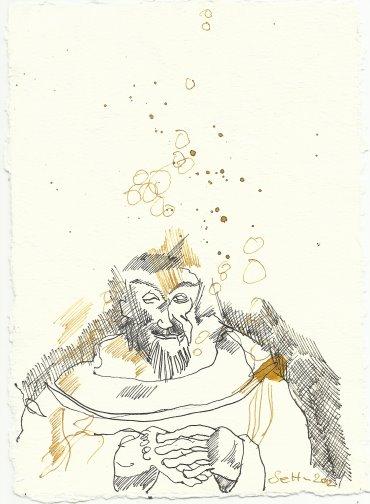 Blatt 67 löse sich der Kern (c) Zeichnung von Susanne Haun