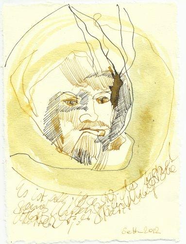 Blatt 68 sein Widerstand zerbricht (c) Zeichnung von Susanne Haun