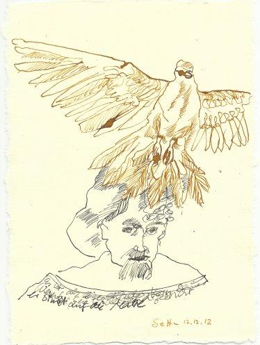 Blatt 69 löse sich der Kern (c) Zeichnung von Susanne Haun