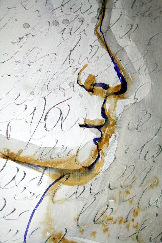 Detail Leinwand Hat meine Gedanken gelöscht (c) Susanne Haun
