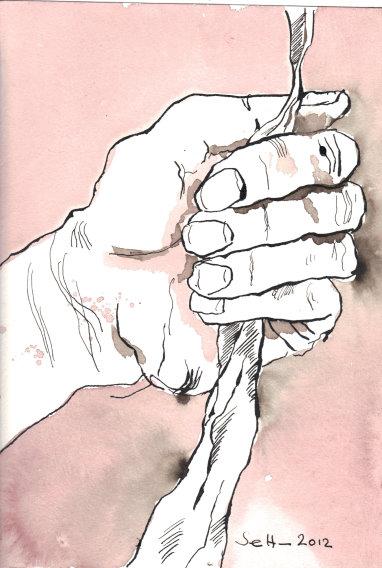Ihr seht den Unterschied nicht  - Zeichnung 17 x 22 cm (c) Susanne Haun