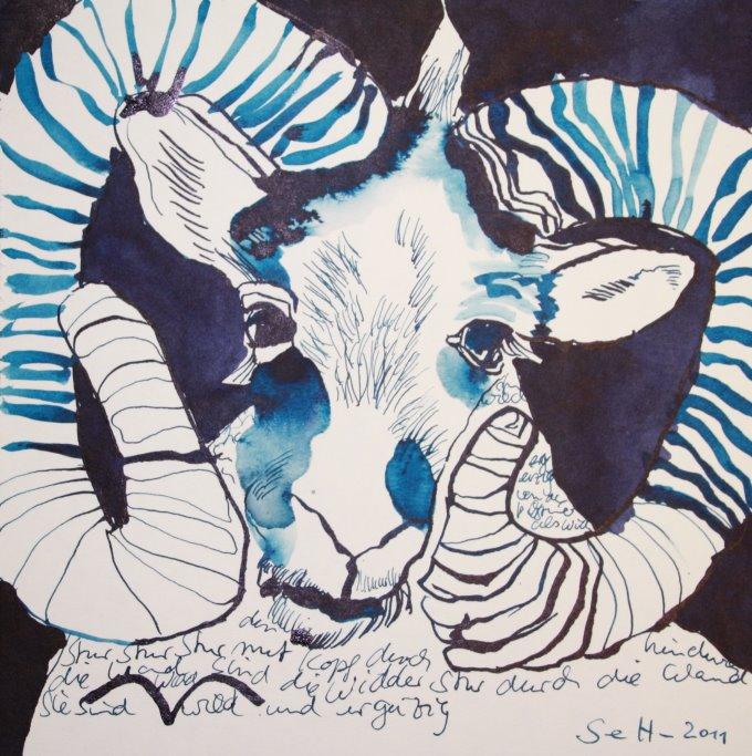 1 Widder (c) Zeichnung von Susanne Haun