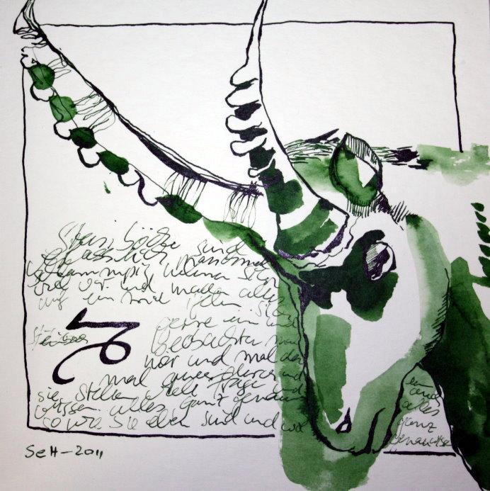 10 Steinbock (c) Zeichnung von Susanne Haun