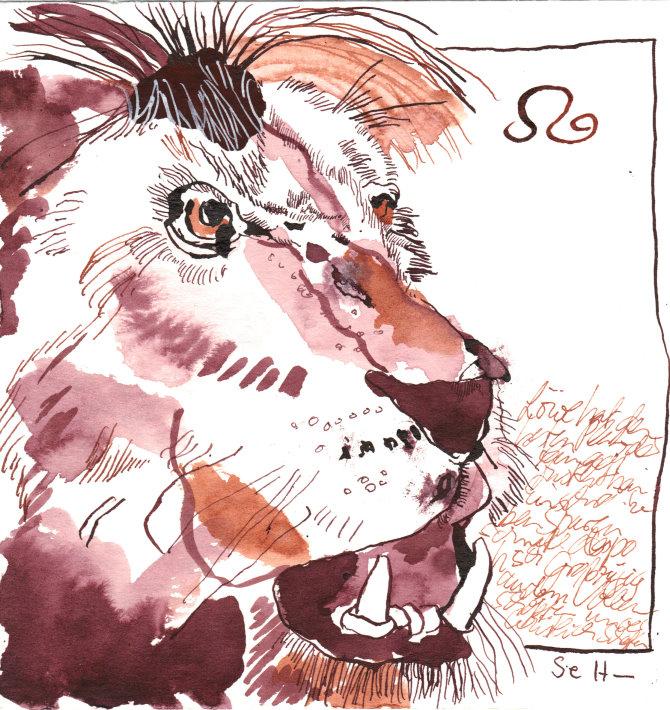 5 Löwe (c) Zeichnung von Susanne Haun