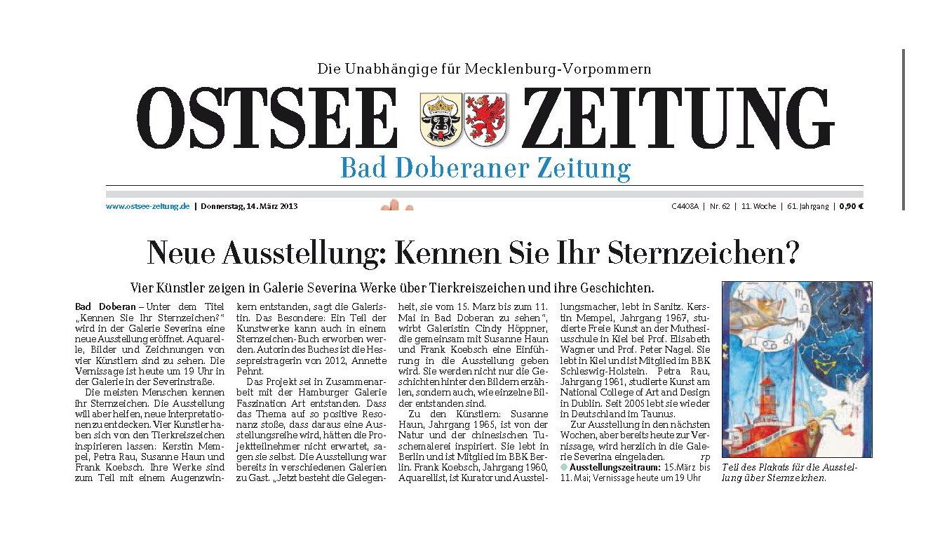 Ostseezeitung vom 14.3.2013