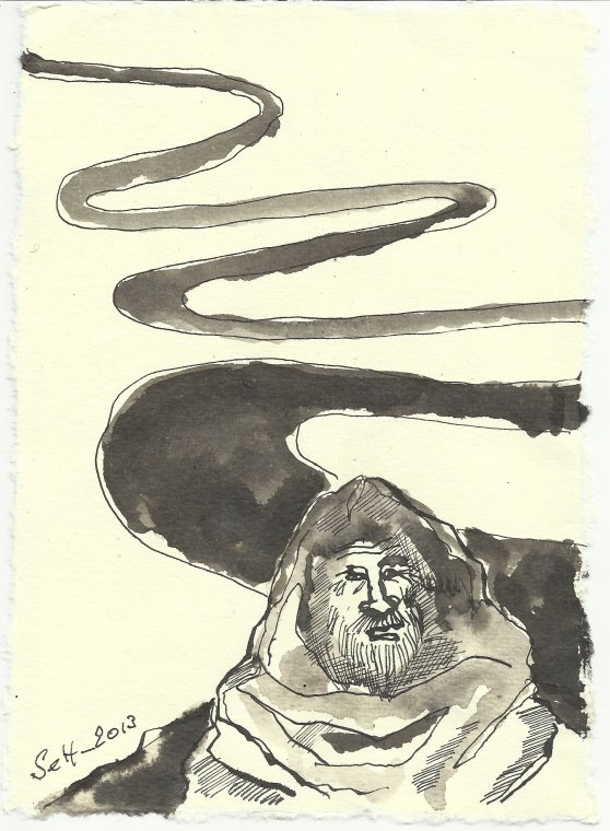 Blatt 122 Der Weg ist lang (c) Zeichnung von Susanne Haun