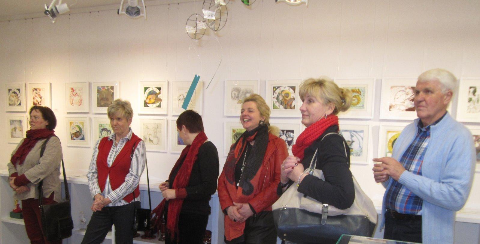 Impressionen von der Ausstellungseröffnung in der Galerie Severina
