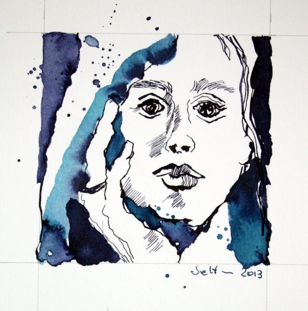 Der Gedanke und ein Traum (c) Zeichnung von Susanne Haun