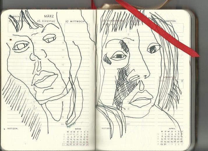 13. Woche Selbstportrait (c) Zeichnung von Susanne Haun