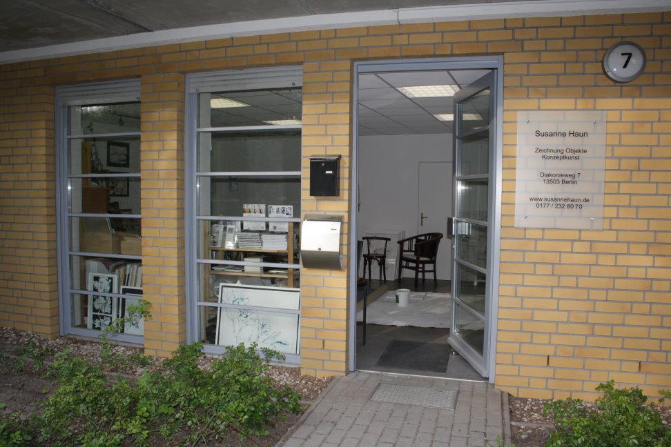 Ateliereingang Susanne Haun (c) Foto von Susanne Haun