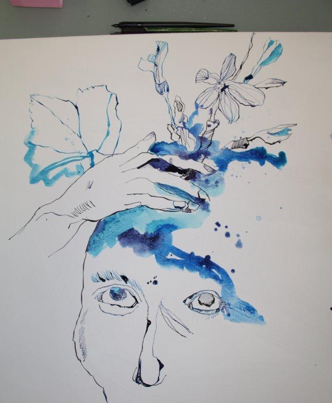 Ausschnitt Zeichnung (c) Foto von Susanne Haun