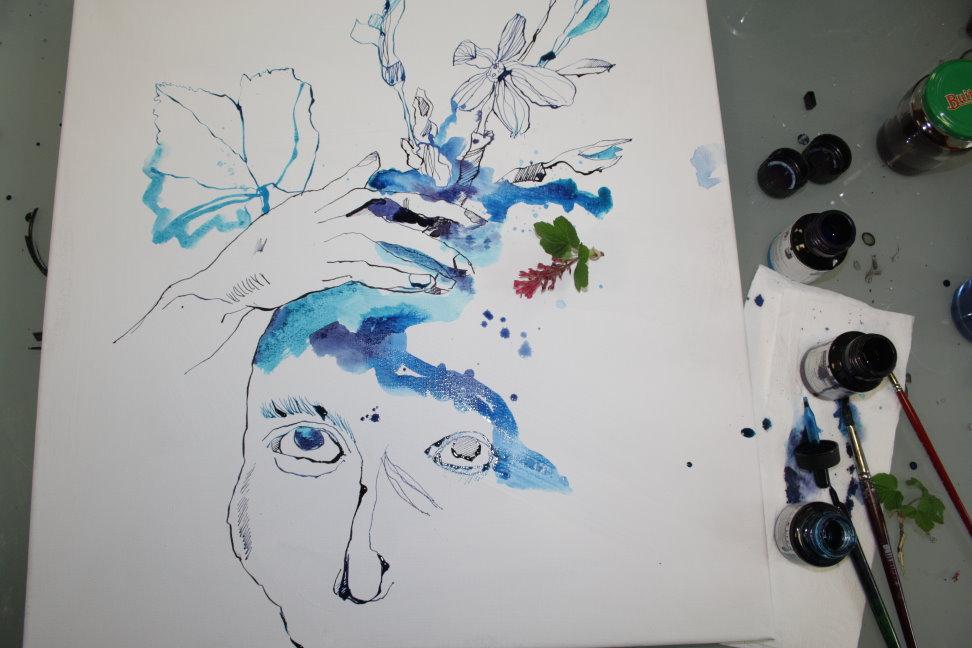 Entstehung Zeichnung (c) Foto von Susanne Haun