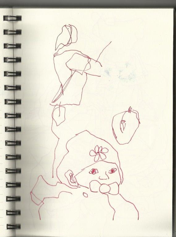 In der S-Bahn Vers.2 (c) Zeichung von Susanne Haun