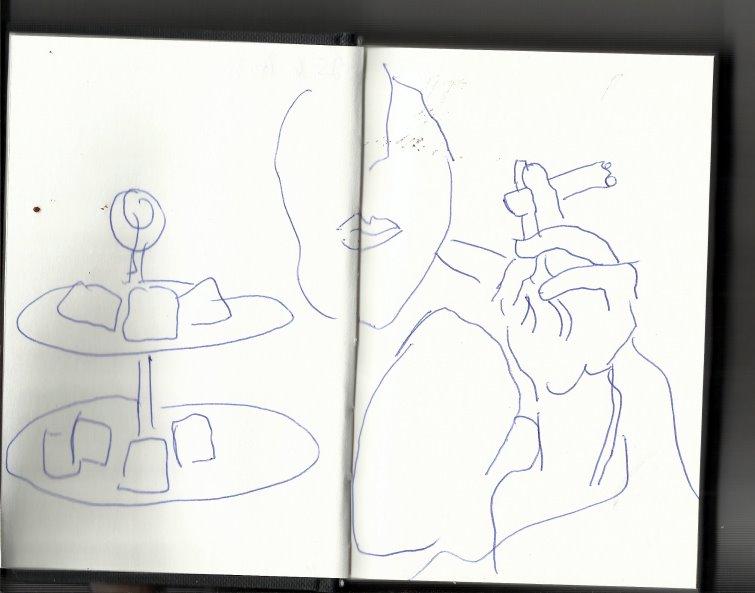 Skizze Komposition Sophie von Hatzfeldt (c) Zeichnung von Susanne Haun