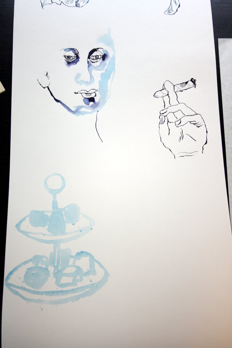 Aufbau des Bildes (c) Zeichnung von Susanne Haun