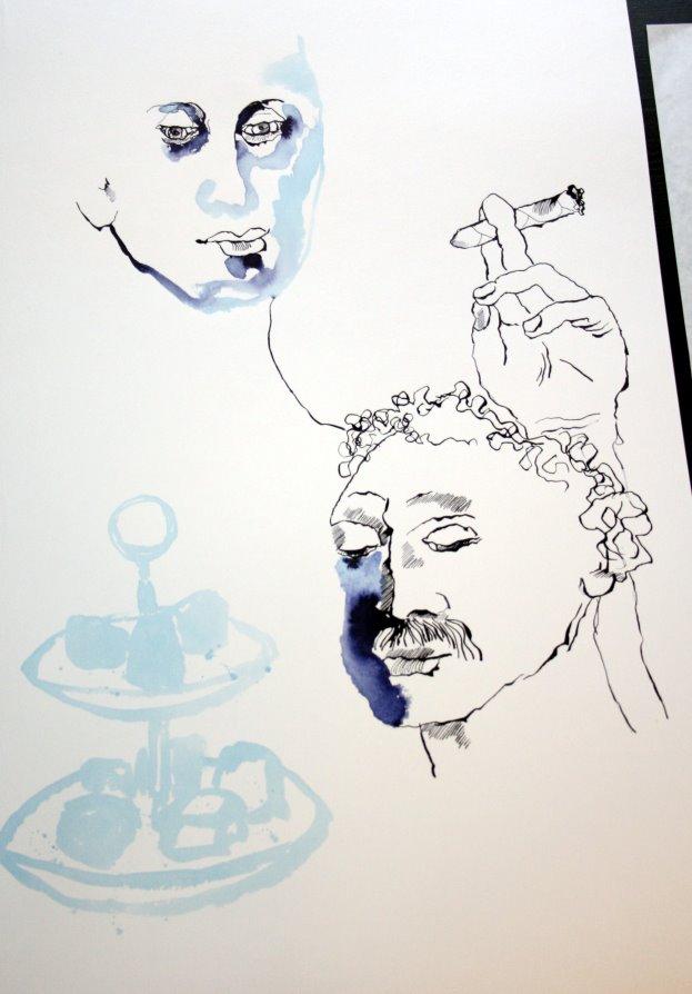 Schutz und Geborgenheit (c) Zeichnung von Susanne Haun