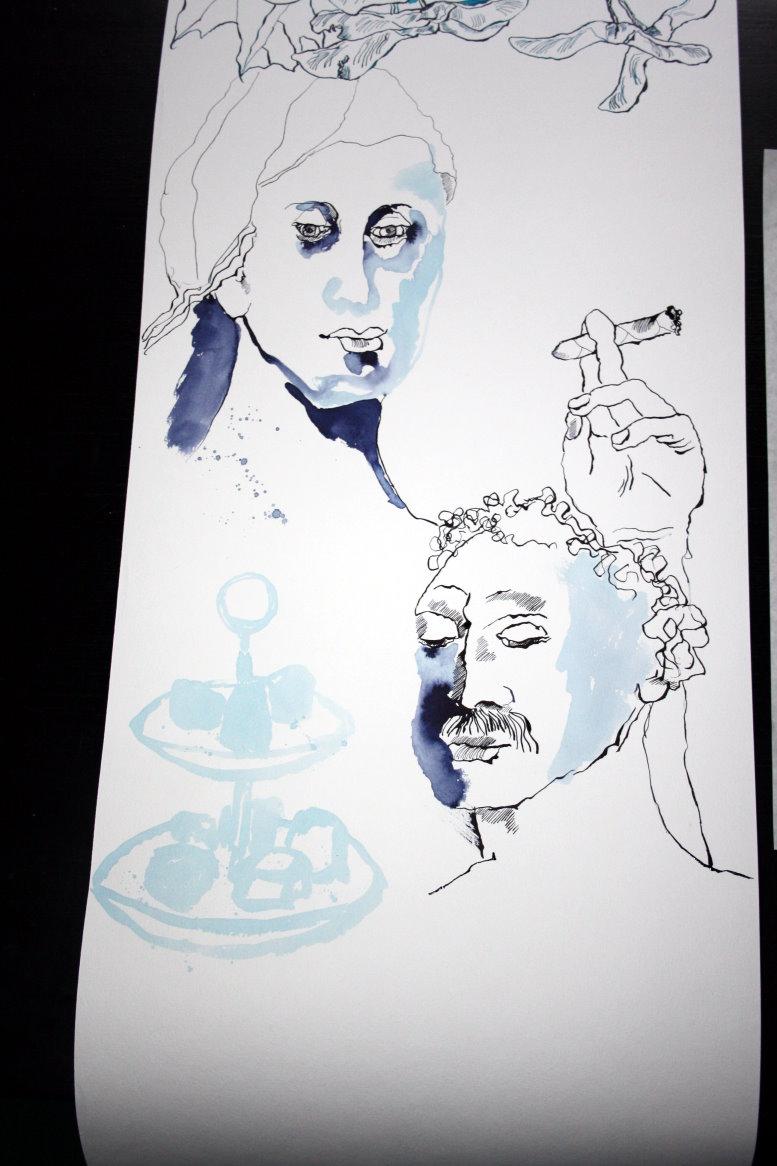 Die aktuelle Rolle - Stand Meter 5 (c) Zeichnung von Susanne Haun