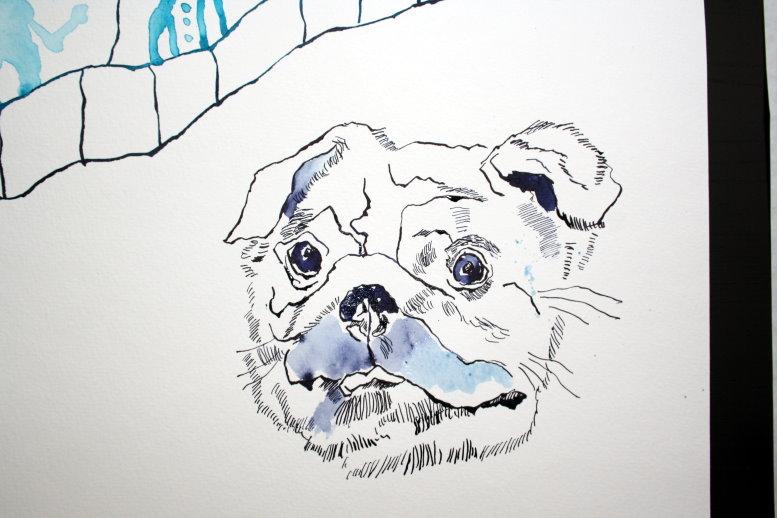 Entstehung Mops (c) Zeichnung von Susanne Haun