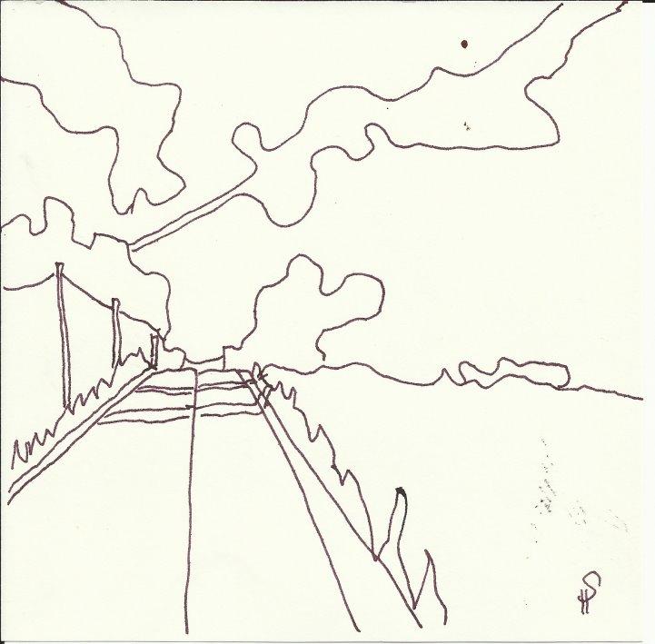 Der Weg nach Chorin (c) Zeichnung von Susanne Haun