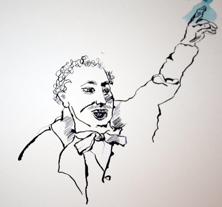 Lassalle als Redner (c) Zeichnung von Susanne Haun