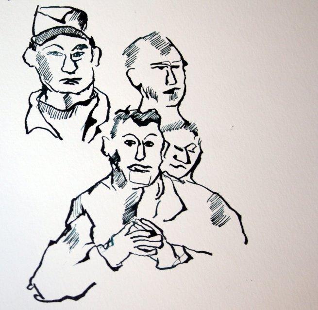 Version 2 Lassalle als Redner (c) Zeichnung von Susanne Haun