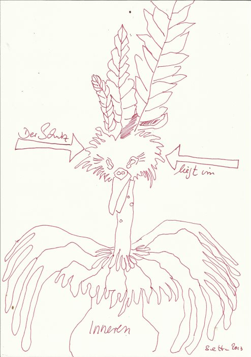 Der Schutz liegt im Inneren (c) Zeichnung von Susanne Haun