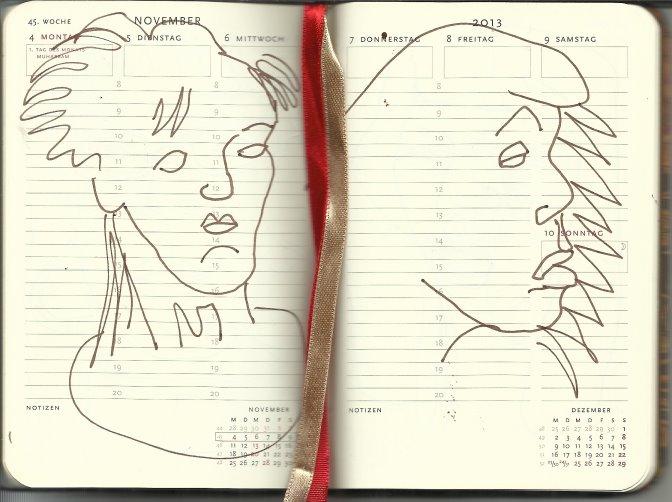 Selbstportrait Tagebuch 45. Woche (c) Zeichnung von Susanne