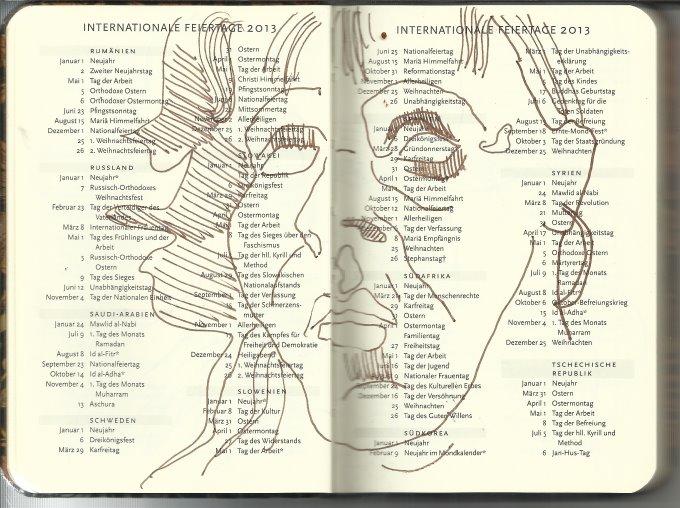 Selbstportrait Tagebuch Feiertage (c) Zeichnung von Susanne