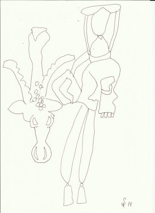 Bad Doberaner Münster 9 (c) Zeichnung von Susanne Haun