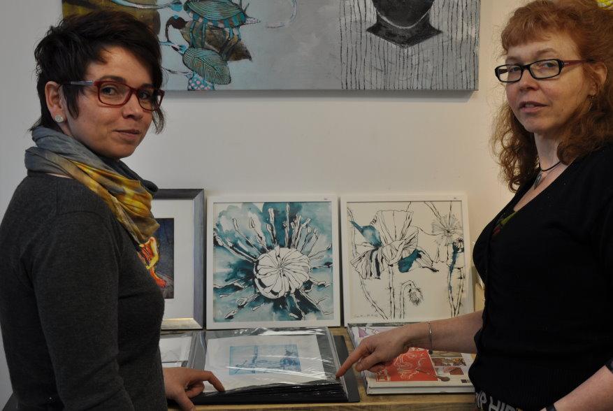 Cindy Höppner, Besitzerin der Galerie Severina und Susanne Haun (c) Foto von M.Fanke