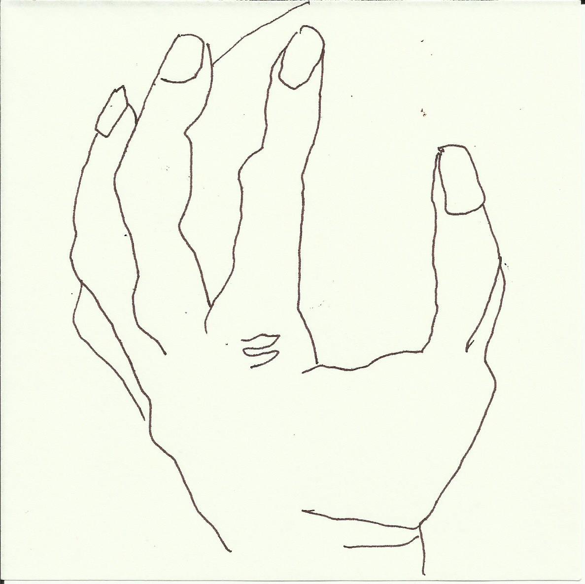 Hand - Füller auf Papier 15 x 15 cm (c) Zeichnung von Susanne