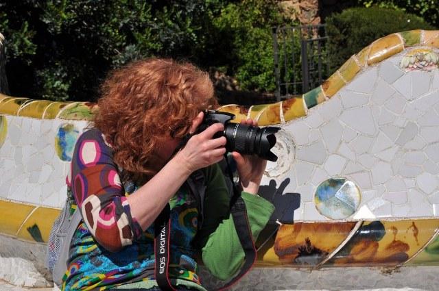 Es gibt vieles zu fotografieren im Park Güell (c) Foto von M.Fanke