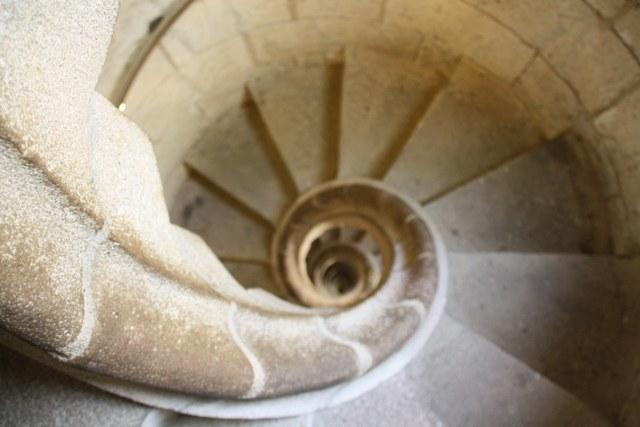 Treppenhaus im Turm der Sagrada Familia von Gaudi (c) Foto von Susanne Haun