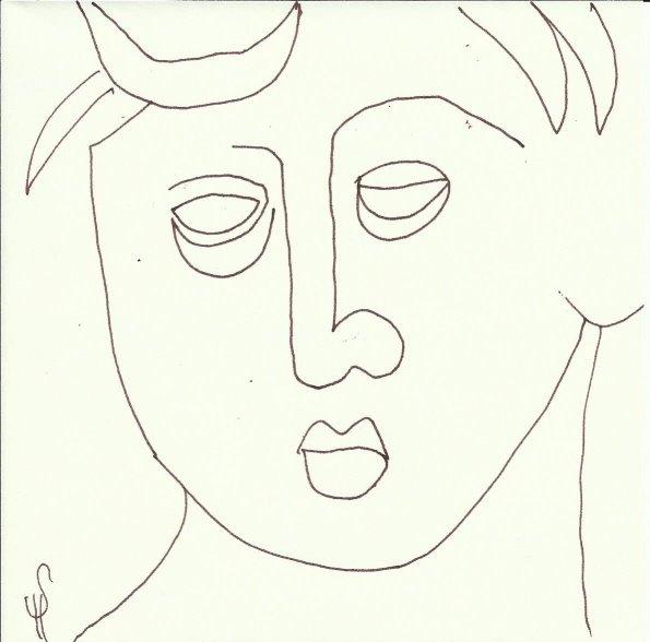 Skulpturen Orangerie (c) Zeichnung von Susanne Haun 0001