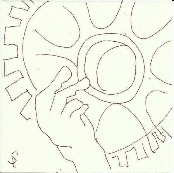 Skulpturen Orangerie (c) Zeichnung von Susanne Haun 0002