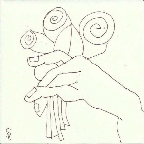 Skulpturen Orangerie (c) Zeichnung von Susanne Haun 0003