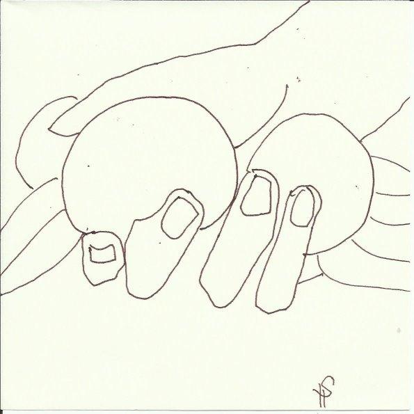 Skulpturen Orangerie (c) Zeichnung von Susanne Haun 0004