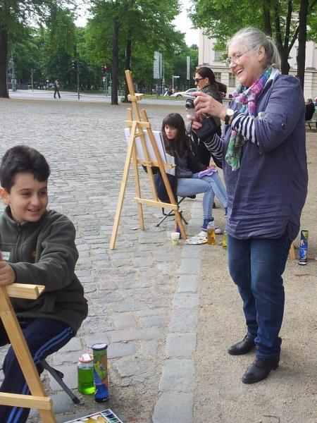 Impressionen vom 2. Kindermaltag (c) Foto von Susanne Haun