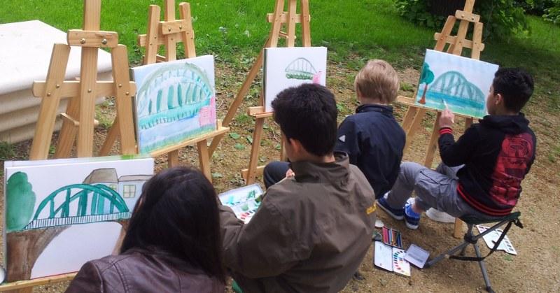 Impressionen vom 3. Maltag Kinderkunst (c) Foto von Susanne Haun