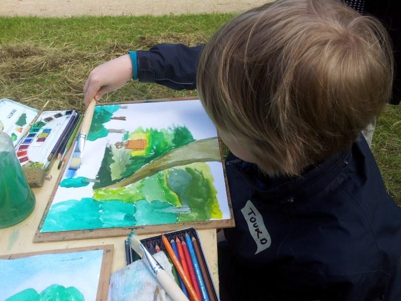 5. Mal Kindermalen zum Thema Natur (c) Foto von Susanne Haun