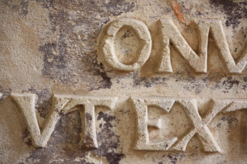 Detail Grabplatte im Innenraum der Klosterkirche Grimma (c) Foto von Susanne Haun