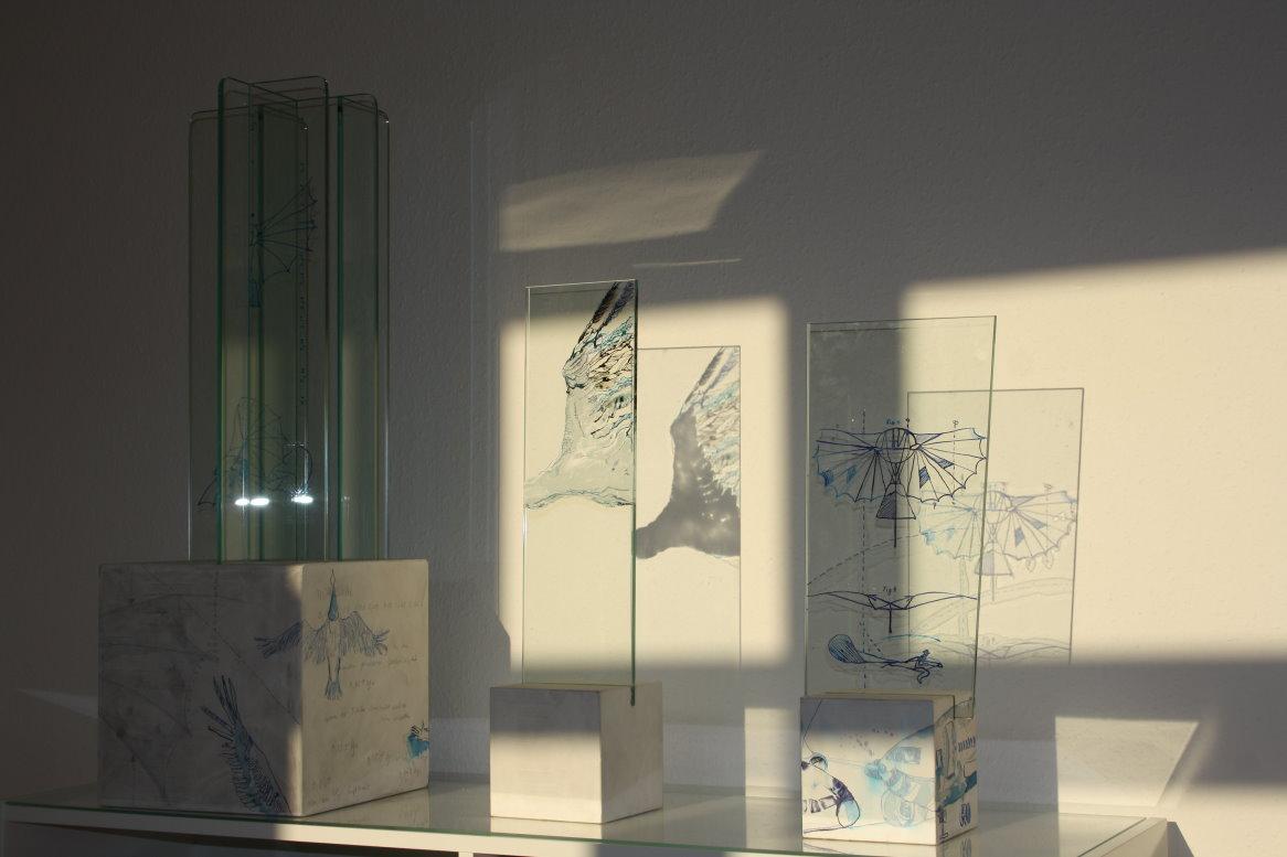Der Traum vom Fliegen (c) Objekte von Susanne Haun