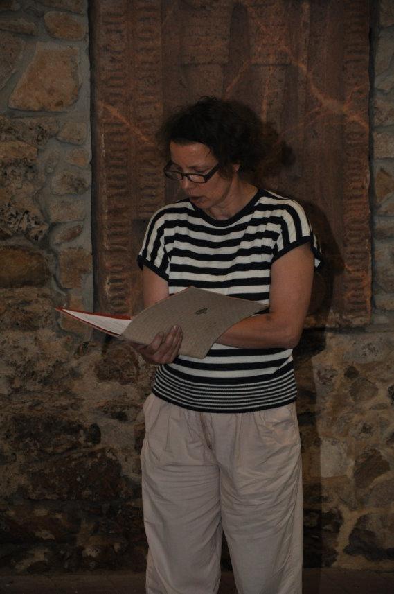 Ute Hartwig-Schulz beim Eröffnung der Ausstellung (c) Foto von M.Fanke